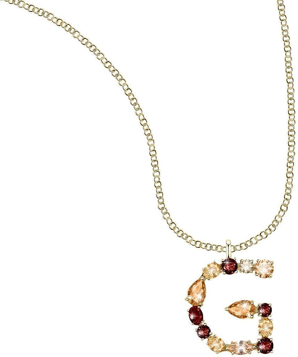 Bluespirit Collar para mujer, Colección Monogram, de latón, cristales - P.62U510000700
