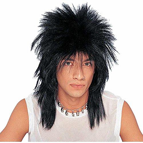 Franco American Novelty Company Unisex Long Black Rocker Costume Accessory Wig