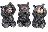 Bears Figurines - Adorable - See, Hear, Speak No Evil Hand Painted