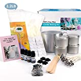 Candle Making Kit – Easy to Make Colored Candle Soy Wax Kit Include Wax, Rich Scents, Dyes, Wicks, Melting Pitcher, Tins & More