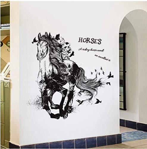 Sticker Decals Behang Lopend Paard Cartoon Muursticker Slaapkamer Woonkamer Tv Bank Achtergrond Decoratie
