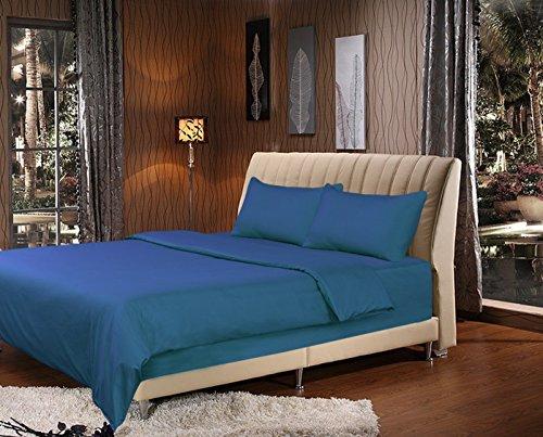 Bigote 2–3piezas funda nórdica set-in océano azul marino, Microfibra, azul, Matrimonio doble