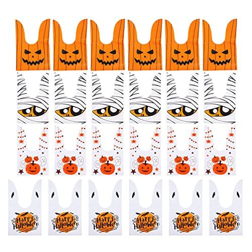 NUOLUX キャンディーバッグ ハロウィン ポリ袋 小分け ウサギ 耳 かぼちゃ バット 手作り お菓子入れ ギフト ラッピング 袋 幽霊 パーティー プレゼント 包装 小物入れ 40枚セット27X16CM