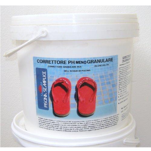 Lapi - 8 kg Secchio Correttore di PH Meno Minus Granulare. per Ridurre Valori di PH Troppo Alti