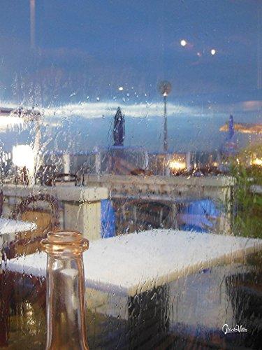 Cuadro XXL de pared de 90 x 120 cm, impresión digital sobre vidrio acrílico de 5 mm, para ventana, cafetería, bar, Francia, etc.