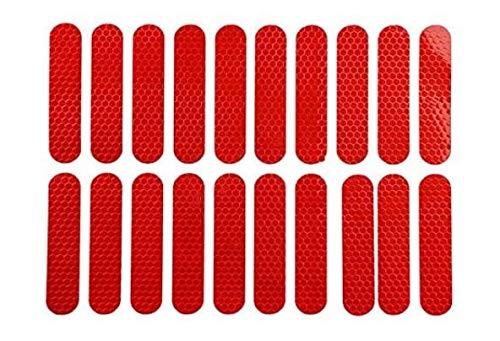 Película adhesiva reflectante fluorescente para Xiaomi Mijia M365 M187 Scooter Eléctrico Night Riding Frame Pedal Stickers Rojo