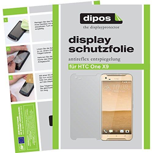 dipos I 6X Schutzfolie matt kompatibel mit HTC One X9 Folie Bildschirmschutzfolie