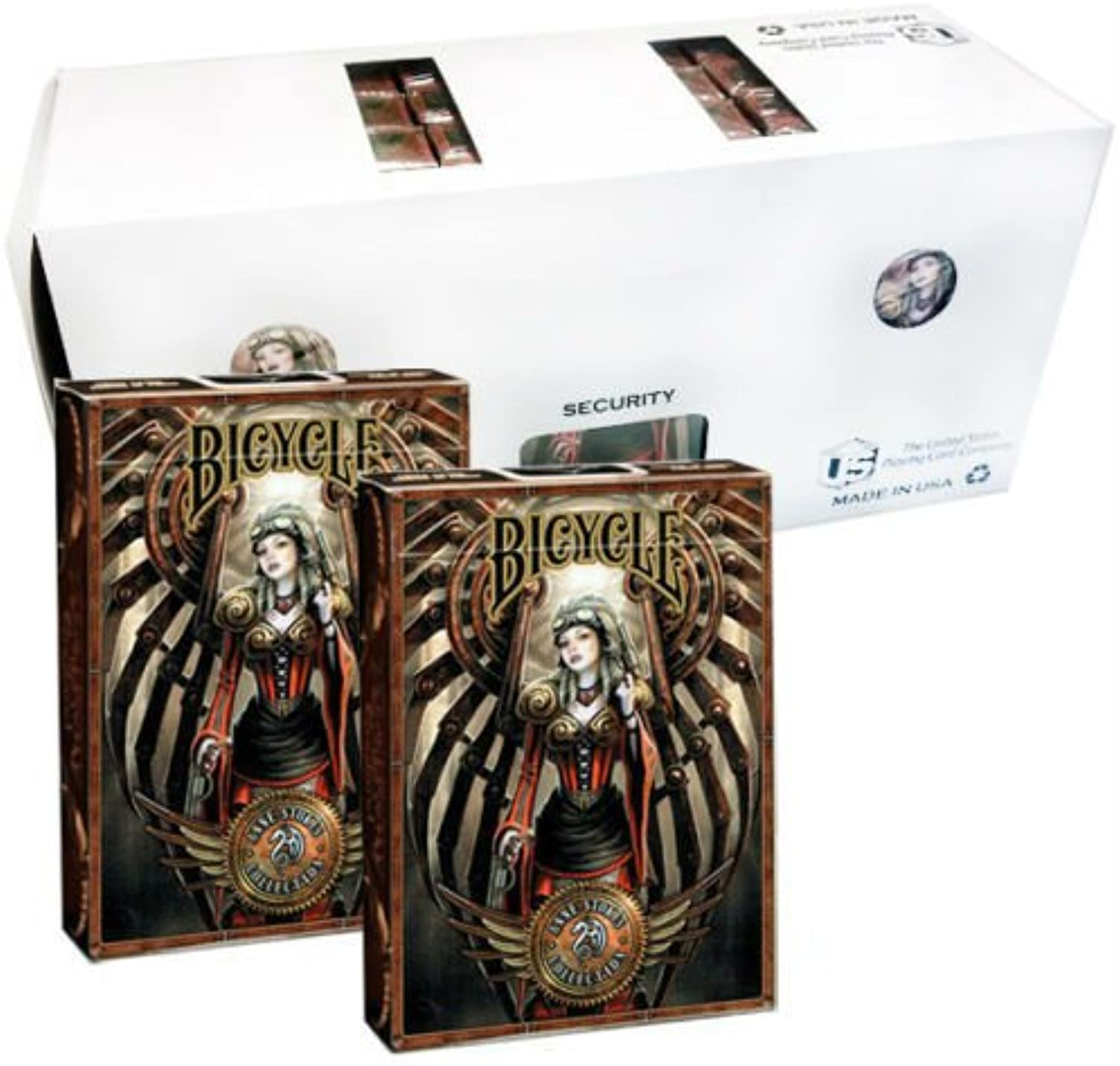 Shop4top 12 Decks Bicycle Anne Stokes Steampunk Playing Cards Sealed Box Case
