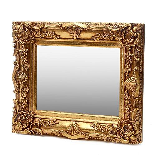 Antik Wandspiegel Gold 50x60 mit Facettenschliff - Handgefertigt - Barock Spiegel