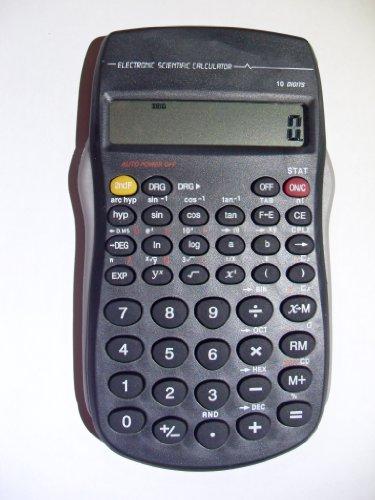 Deet TM14 Wetenschappelijke rekenmachine met 10-cijferig display, comfortabel, ideaal voor kantoor, thuis, school, wiskunde, rekening, financiële processen enz. Eenvoudige bediening, batterijen niet inbegrepen.