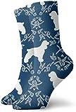 ONGH Cocker Spaniel Razza canina Silhouette Motivo floreale Calze lunghe Calze morbide più calde 1 paio per calzini sportivi da donna e da uomo 11,8 pollici (30 cm)