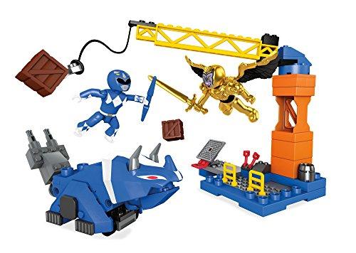 Mega Bloks Construx 900 DPK77 Power Blue Ranger Battle Playset (Exclusivo de Amazon)