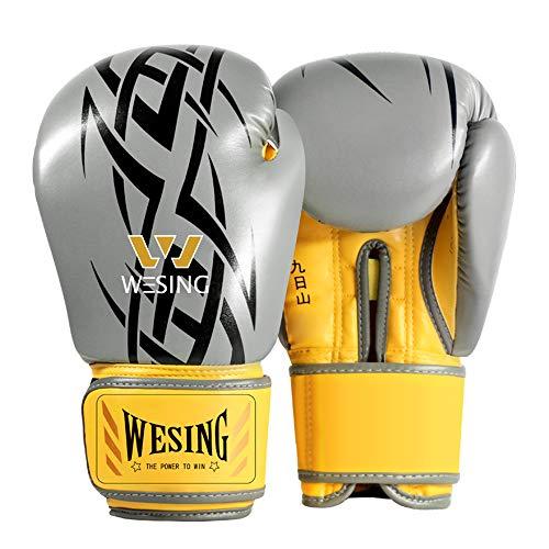 Wesing - Guantes de boxeo profesionales para hombre Muay Tha