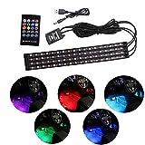 車 72LED RGB テープライト USB式 防水 高輝度 両面テープ イルミネーション 全8色 リモコンとカーチャージャー付き 音に反応サウンドセンサー内蔵 足下照明 車内装飾用