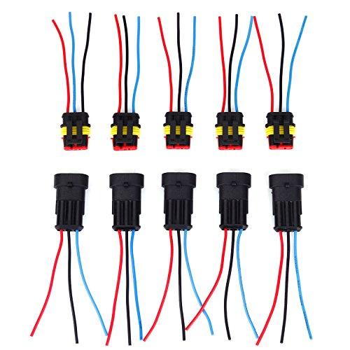 5 Set Steckverbinder Wasserdicht 3-polig Superseal Stecker mit Kabel Steckverbindung Auto KFZ Boot