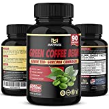 Green Coffee Bean Extract 6050mg, Highest Potency with Garcinia Cambogia, Green Tea and Other Herbal Ingredients - Antioxidant Supplement & Metabolism Booster for Weight Loss - 3 Months Supply