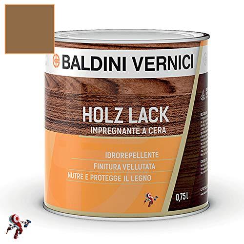 Impregnante per legno esterno interno a Cera Solvente Baldini Vernici 750 ml impregnante a cera per legno 9 colori impregnante baldini impregnante legno esterno interno (NOCE 705)