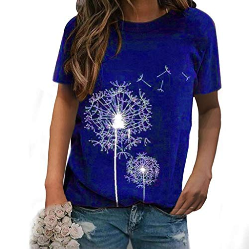 Find Bargain YAnGSale Top Fashion T-Shirt Women's Casual Blouse Stay at Home Wear Clothes Short Slee...