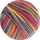 Lana Grossa Cool Wool Print 703 - Lila/Grün/Himbeer/Orange/Gelb/Blau