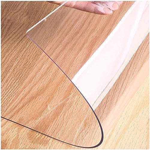 KEANCH Mantel De PVC Transparente, Cubierta De Mesa Transparente De PVC Suave, Almohadillas Protectoras Antideslizantes Mantel De Vinilo Rectángulo(Size:80x120cm,Color:1.5mm)