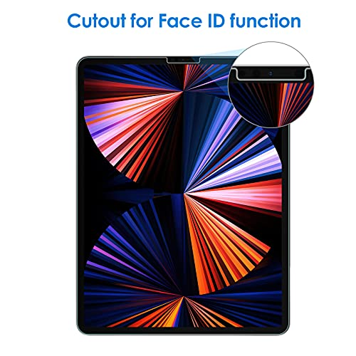 JEDirectiPadPro12.9インチ(2021/2020/2018モデル、第4世代用)強化ガラス液晶保護フィルム
