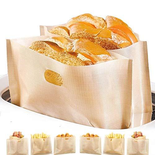 Bolsa tostadora antiadherente, fácil de limpiar, reutilizable y resistente al calor, libre...