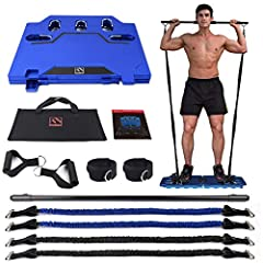 Ideal Portable Home Gym - This portable gym equipment can build muscle, free weights, burns fat, increases endurance, and improves flexibility. ! PLS NOTE: When screwing the screw into the fitness bar, don't screw it too deep, just screw it in half, ...