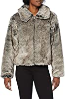 Superdry Boho Faux Fur Jacket Cappotto in Pelliccia Sintetica Donna