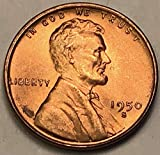 1950 S Lincoln Wheat Cent Red OBR Penny Nearly Superb Gem Brilliant Uncirculated