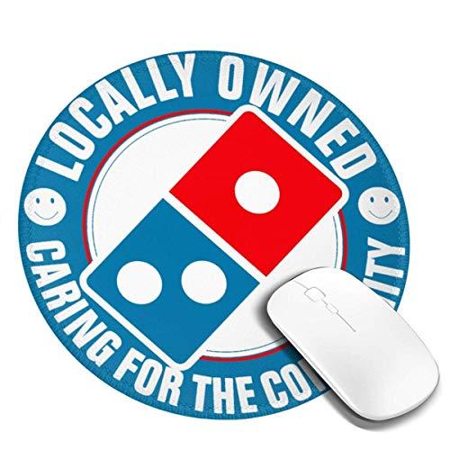 Domino's Pizza Stilvolles rundes Mauspad 7,9 x 7,9 Zoll rutschfestes Mauspad, geeignet für Zuhause/Büro/Spiel