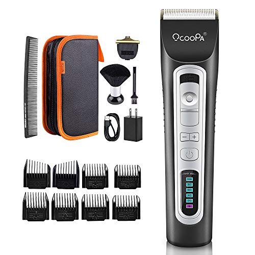 Cordless Beard Trimmer, OCOOPA Professional Hair Clippers for Men Rechargeable Electric Beard Trimmer Grooming Kit Perfect Gift for Dad/Boyfriend with Storage Bag