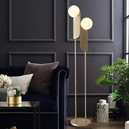 LAMP-XUE Mode vloerlamp woonkamer slaapkamer eenvoudig ijzer kunst decoratieve verlichting (kleur: goud)