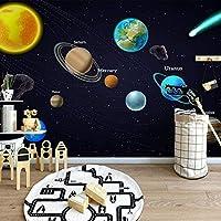 QQYYYT ウォールアートポスター-3D壁画漫画スペース宇宙惑星壁画子供部屋寝室子供部屋ポスター壁装飾絵画