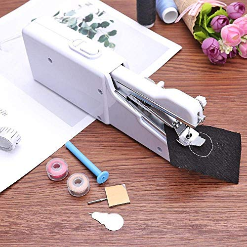 VR ENDEAVOR Sewing Machines for Home Tailoring use, Electric Sewing Machine, Mini Portable Stitching Machine Hand held Manual silai Machine (White)