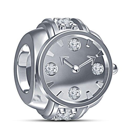 Vorra - Pulsera de reloj de pulsera para pulsera Pandora de plata de ley 925