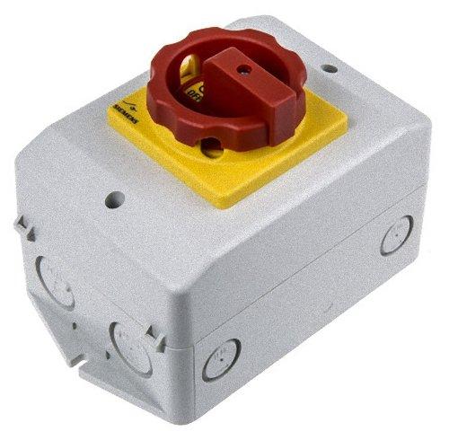 Siemens 3LD2064-0TB53 - Elektroschalter (3P, Rot, Gelb, 400 V, 690 V, CSA, UL, VDE, EAC, CE, LRS, 50-60 Hz)