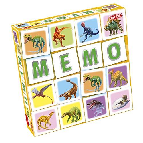 Tactic 55802 Match Memo Board Familie einfach zu Spielen Kinder gut gemacht Paar Dinosaurier Spaß | Memory-Spiel für Kinder ab 3 Jahren, Mehrfarbig