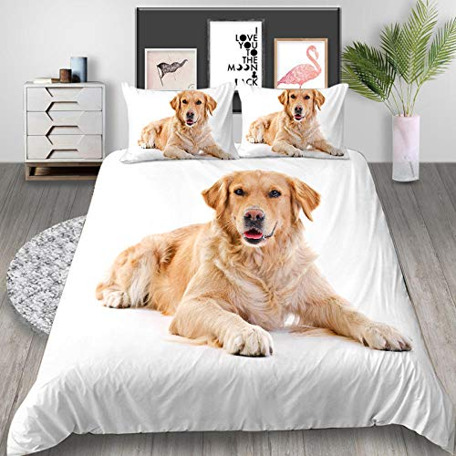 3D Golden Retriever Dog Printed Animals series Home Textile animal printing Duvet Cover for boys and girls 135x200cm