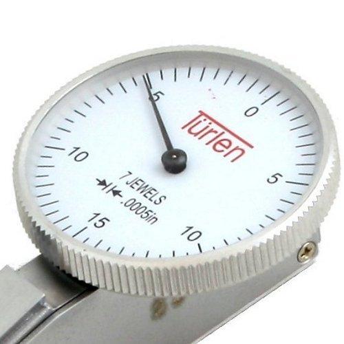 "Türlen Test Dial Indicator 7 Jewels High Precision 0.0005"" 0-15-0"
