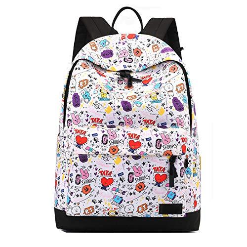 Mstrrouning Stylish Cartoon School Backpack for Girls Teens, Middle High School Teenager School Bag