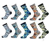 Lieblingsstrumpf24 10er Pack Socken Kinder Jungen Mädchen Baumwolle Öko-Tex Standard 100 (Camouflage Mix Special 35-38)