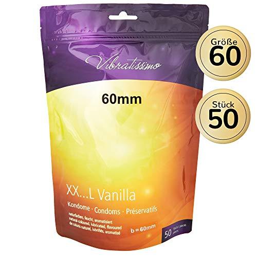 AMOR Vibratissimo 60mm Markenkondome XXL-Kondome, 50 Stück, naturfarben