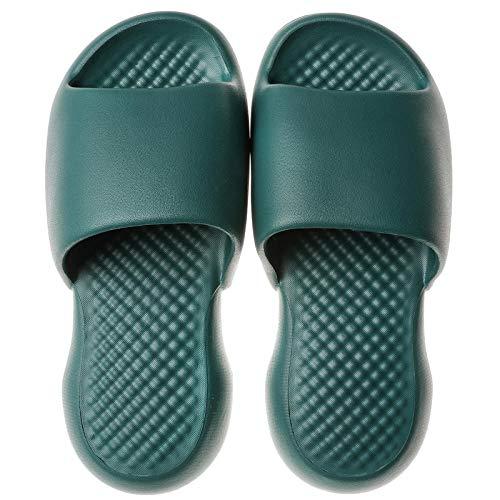ZZLHHD Sandalia Tipo Chancla Verano,Zapatillas de Mujer, Zapatillas de Verano Antideslizantes, Green_42-43,Hombre Sandalias Punta Descubierta