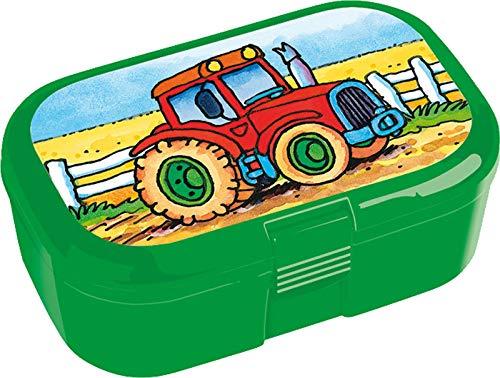 Lunchbox * TRAKTOR * für Kinder von Lutz Mauder | 10801 | Perfekt für Bauerhof-Fans | Snackbox in Größe: 10,5 x 4,2 x 6,6cm | Brotzeitbox Brotzeit Schule Grundschule Einschulung