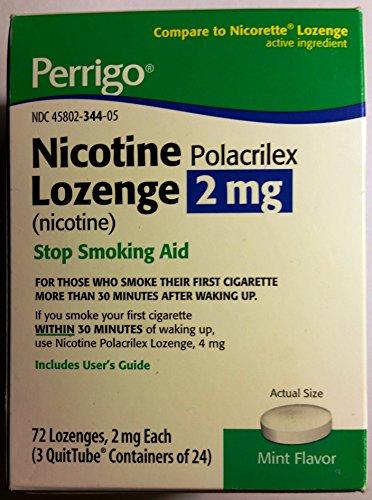 Perrigo Nicotine Polacrilex Lozenge 2mg ~ MINT flavored ~ 72ct *Compare to Nicorette*