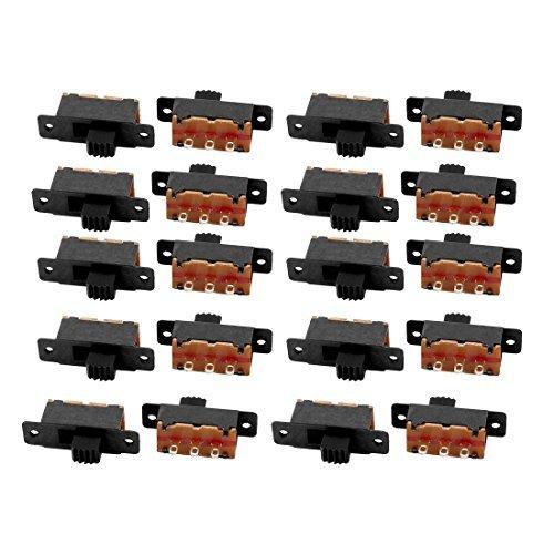 DealMux 20Pcs 2 Posição 3P SPDT Switch Micro Miniatura Laboratório Deslize travamento Interruptor de Báscula