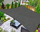 AsterOutdoor Sun Shade Sail Rectangle 12' x 16' UV Block Canopy for Patio Backyard Lawn Garden Outdoor Activities, Graphite