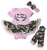 Petitebella Oh Deer I'm Here Pink Bodysuit Camouflage Tutu Leg Warmer Nb-18m (3-6 Months)