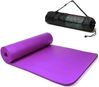 Esterilla Yoga Alfombrilla de Yoga fitness10MM Grueso 183*61cm Esterilla de Fitness Ecológica Colch