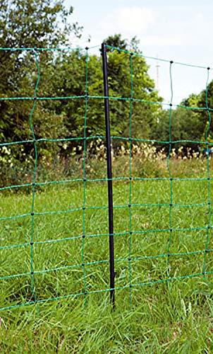 Rete elettrificabile per Ovini Universale 14 Pali in plastica stabili Lunghezza 50 m Orizzontali elettrificabili Attraverso 3 conduttori in Acciaio Inox da 0,20 mm per Filo Doppio
